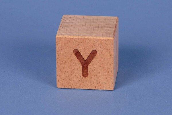 Letter cubes Y positive