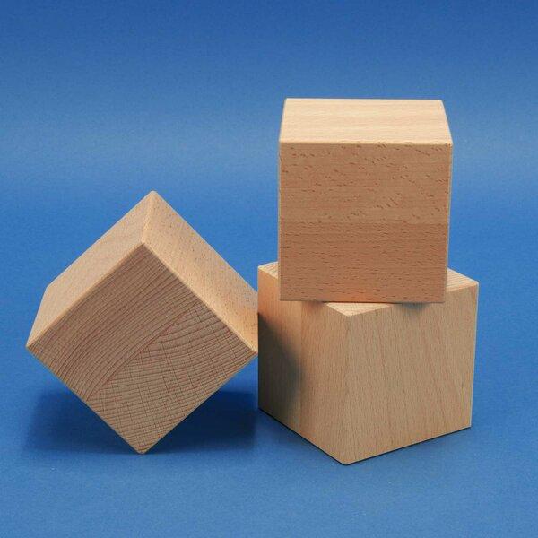 Deco wooden cubes 12 cm