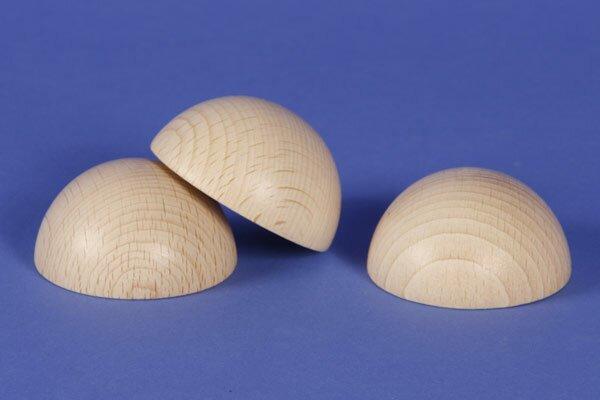 Half wooden balls beech Ø 35 mm