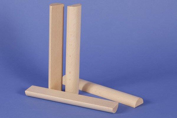 wooden half pillar Ø 3 x 18 cm