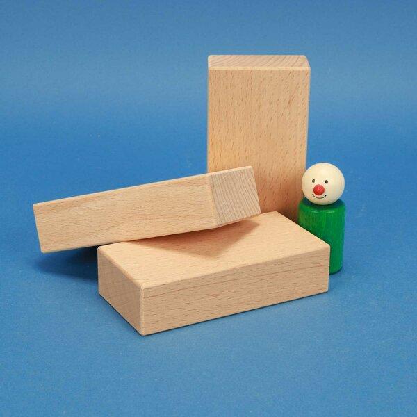 wooden building blocks 12 x 6 x 3 cm