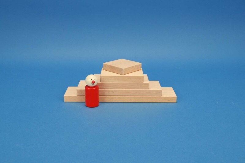 Building blocks square 6 x 1,5 cm