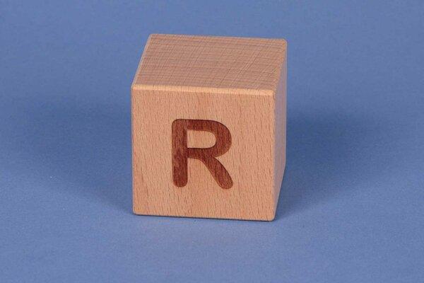 Letter cubes R positive