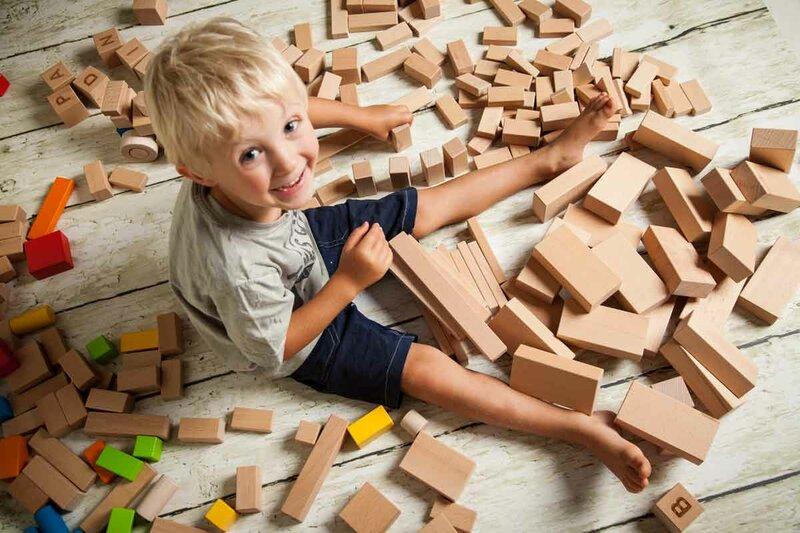Wooden blocks single