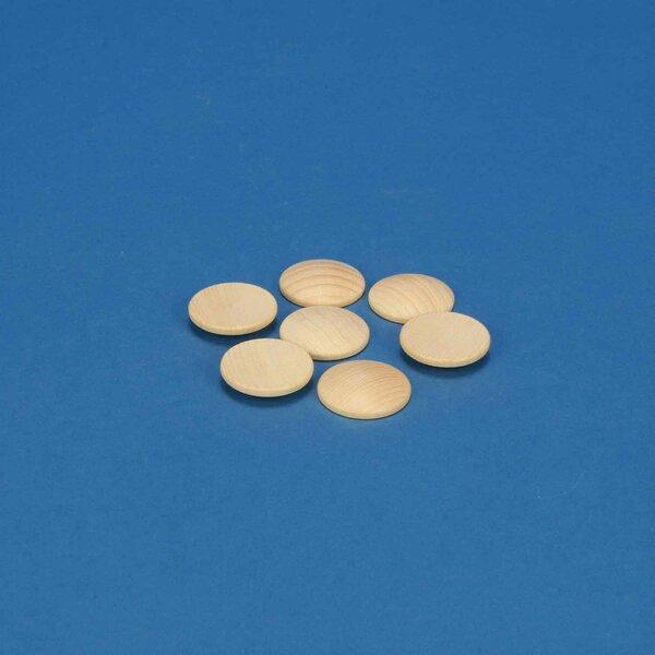 50 wooden dome discs beech Ø25mm