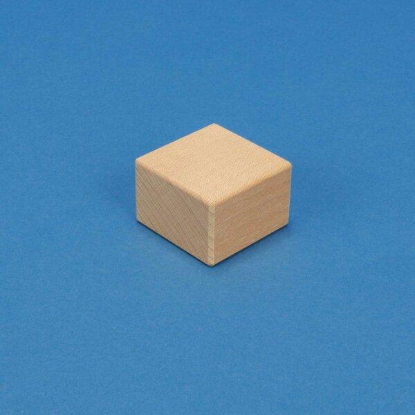 wood stamp 4,5 x 4,5 x 3 cm