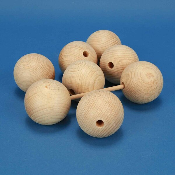 wooden balls beech Ø 60mm half drilled 10mm