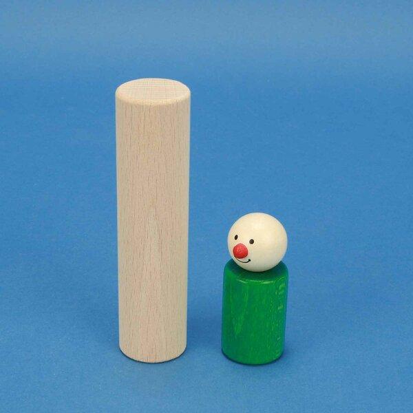 wooden toy blocks round Ø 3 x 12 cm