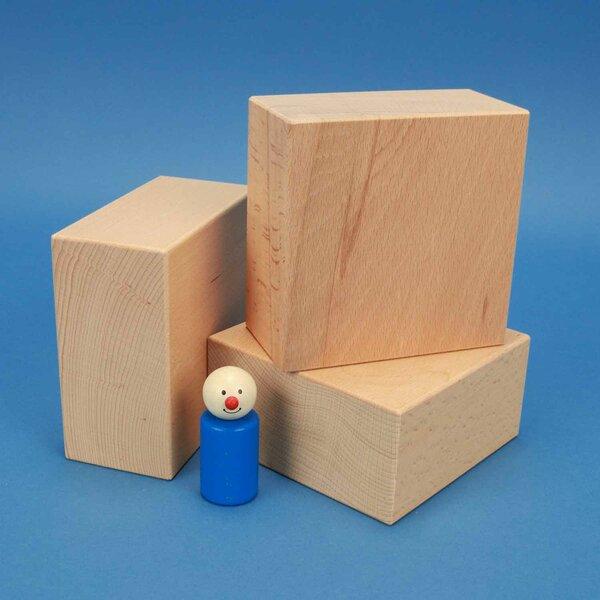 extra large wooden blocks 12 x 12 x 6 cm