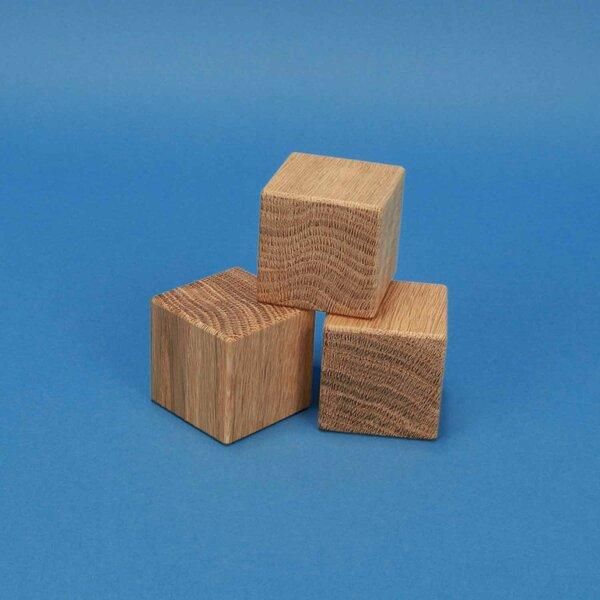 wooden cubes oak 4,5 cm