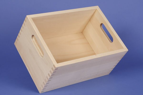 Beechwood box small without wooden blocks