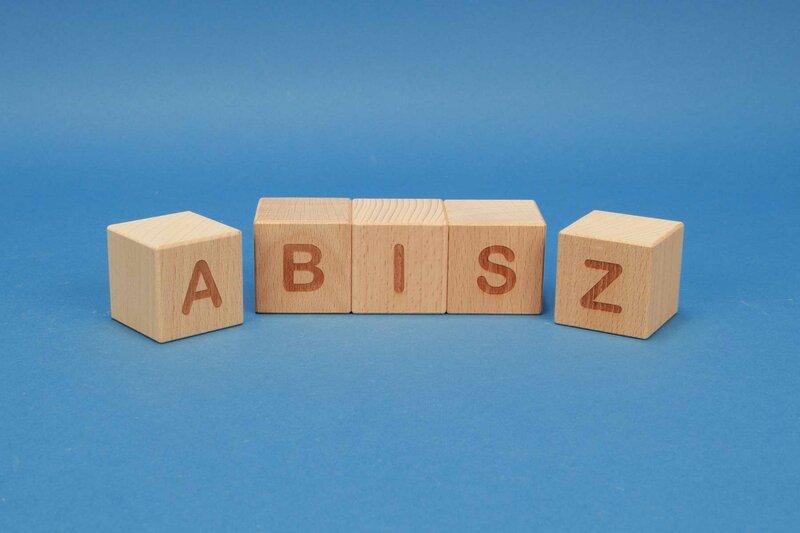 Letter cubes A-Z positive