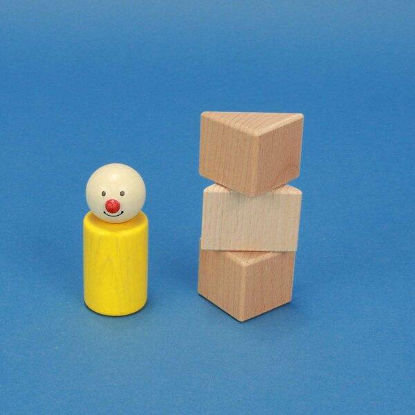 wooden blocks triangular 3 x 3 x 3 cm