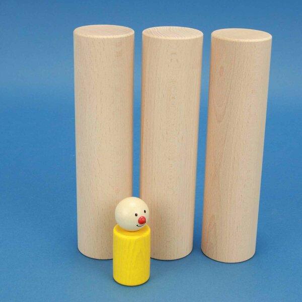 Beechwood cylinder Ø 4,5 x 18 cm