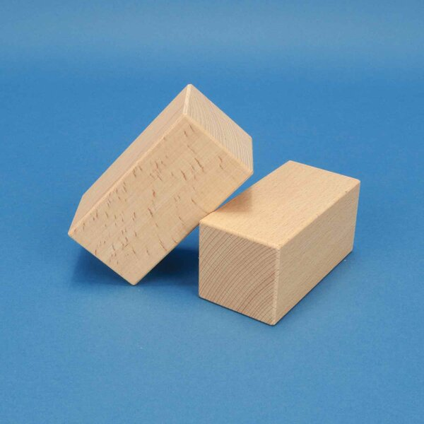 wooden building blocks 10 x 5 x 5 cm