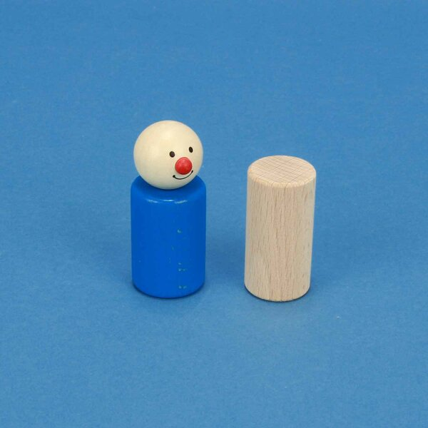 cylinder of beechwood Ø 1 inch x 2 inches