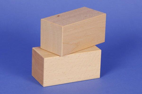 wooden building blocks 10 x 5 x 5 cm