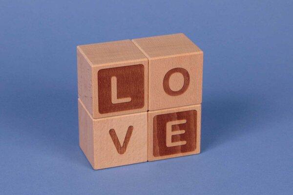 """Letter cubes """" LOVE """""""