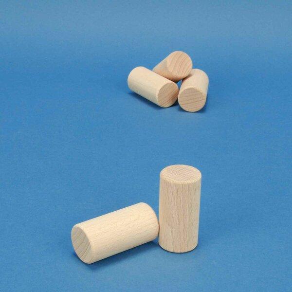 cylinder of beechwood Ø 2,5 x 5 cm