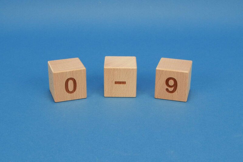 number cubes 0-9 positive