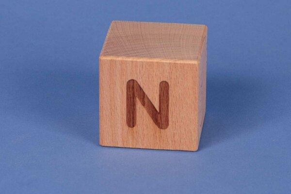 Letter cubes N positive