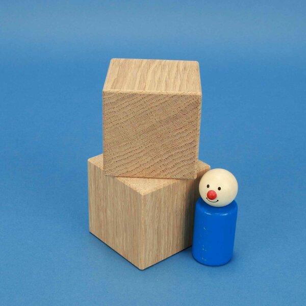 wooden cubes oak 6 cm