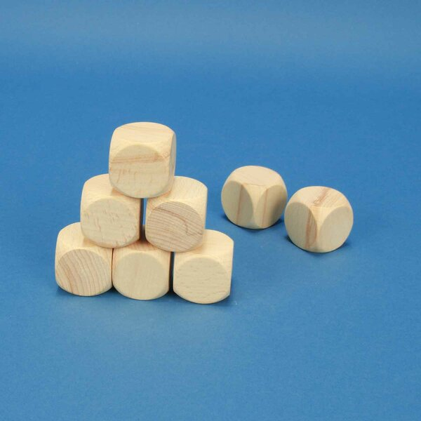 wooden dices blank 3 cm