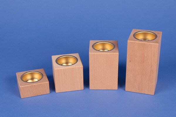 wooden candle holder advent beech