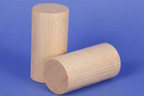 wooden block round Ø 6 x 12 cm