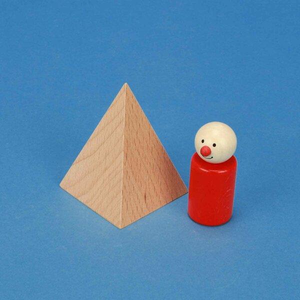 pyramid made of beech 6 x 6 x 8 cm