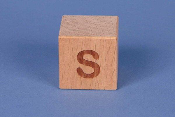 Letter cubes S positive