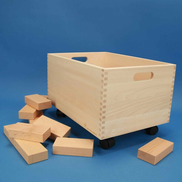 Rolling Beechwood box large