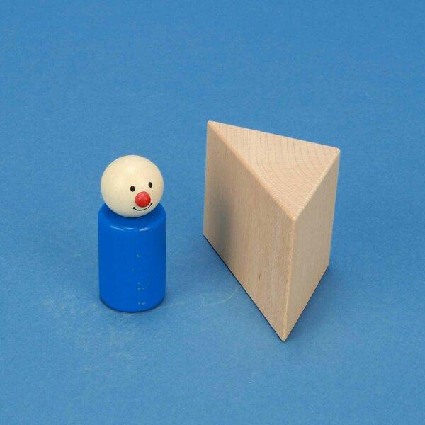 wooden triangular pillar 6 x 6 x 6 cm rectangular