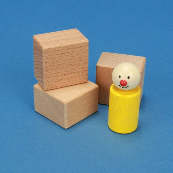 wooden blocks 4,5 x 4,5 x 3 cm