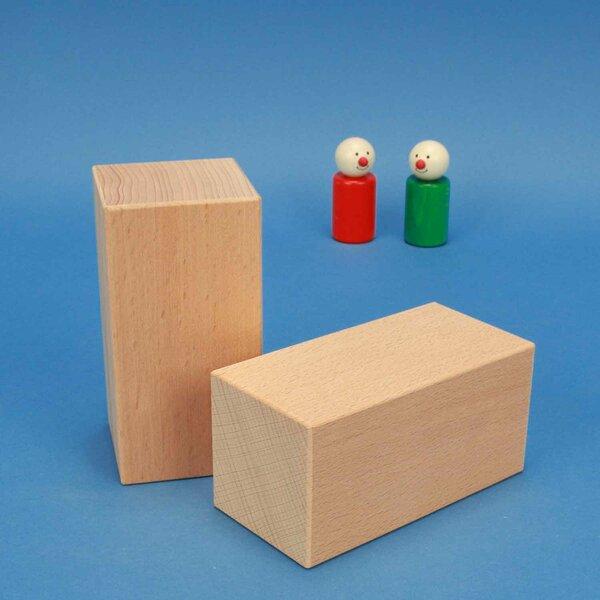 geometric solids wooden blocks 12 x 6 x 6 cm