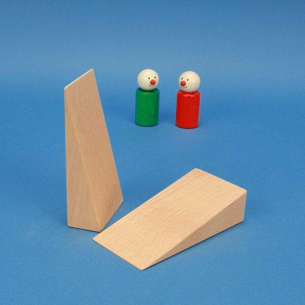 wooden wedges 12 x 6 x 3 cm