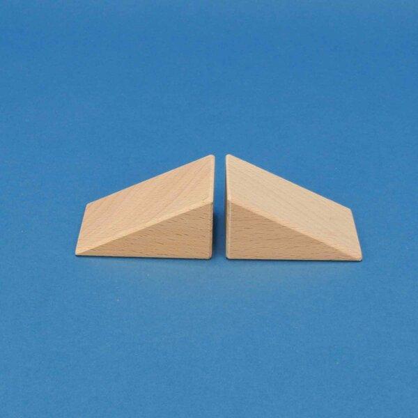 wooden triangle blocks 60x45x30mm