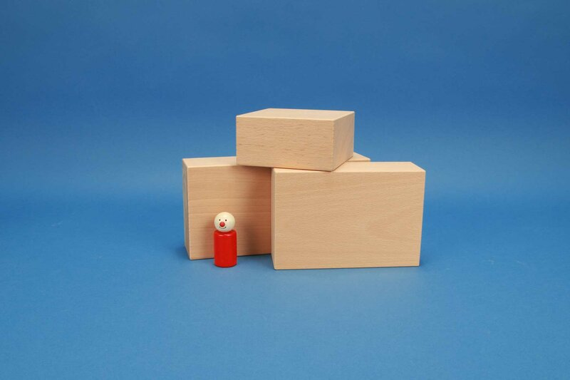Large wooden blocks 12 x 6 cm