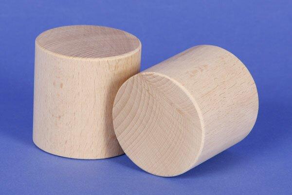wooden block round Ø 6 x 6 cm