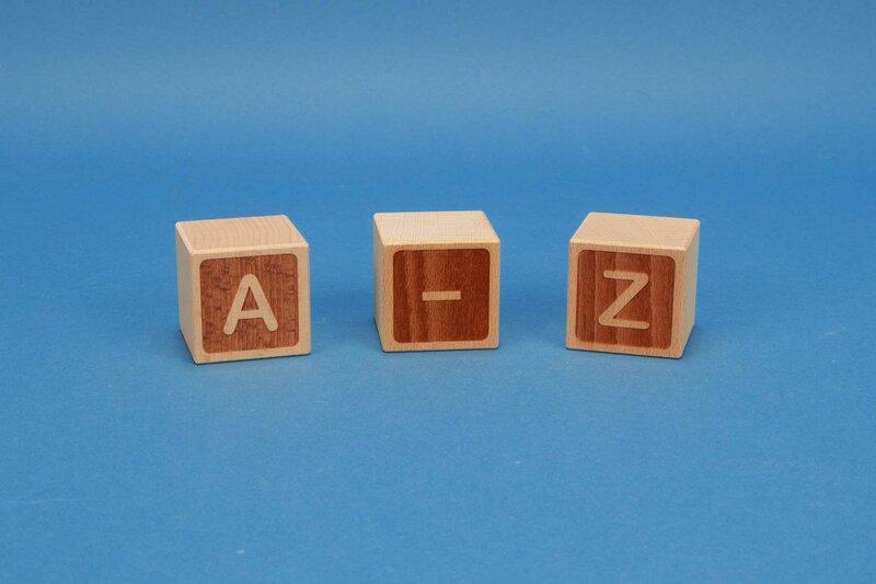Letter cubes A-Z negative