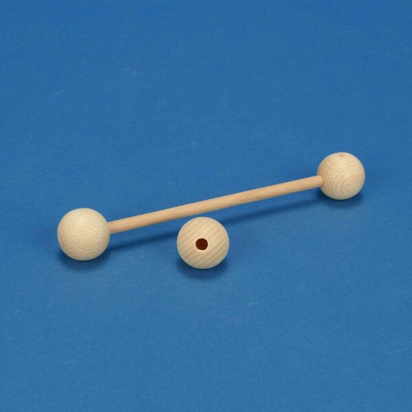 wooden balls beech Ø 20mm halfdrilled 4mm