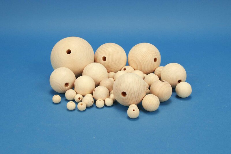 full drilled wooden balls
