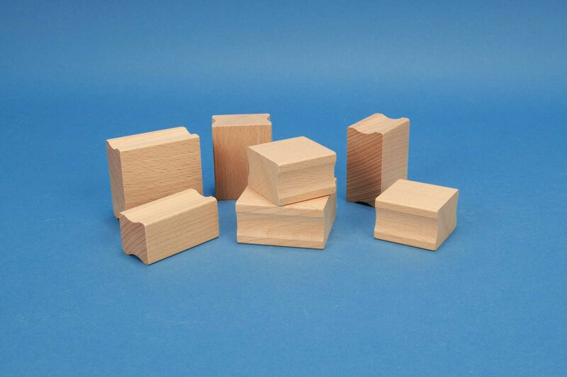 Wood stamps recessed
