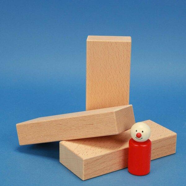 fröbel wooden building blocks 15 x 6 x 3 cm