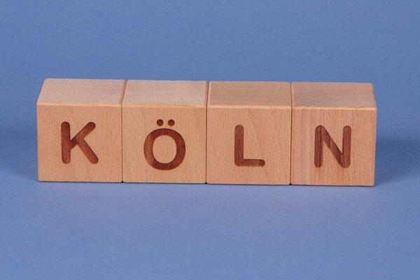 """Letter cubes """" KÖLN """""""