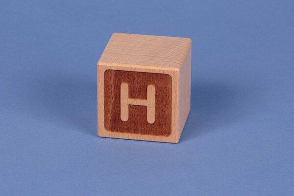 Letter cubes H negative