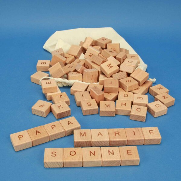 ABC-wooden blocks 82 pieces