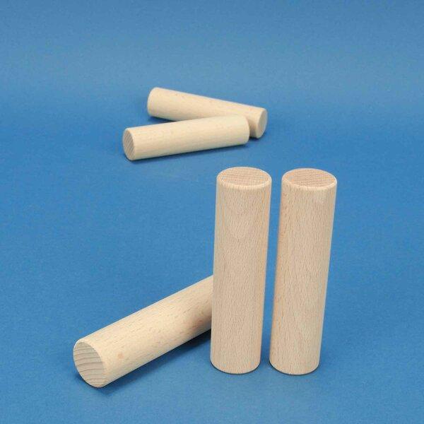 cylinder of beechwood Ø 2,5 x 10 cm