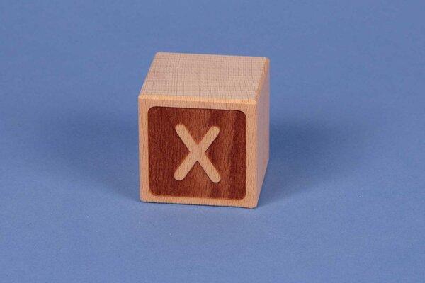 Letter cubes X negative