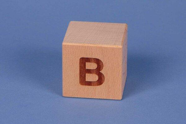 Letter cubes B positive